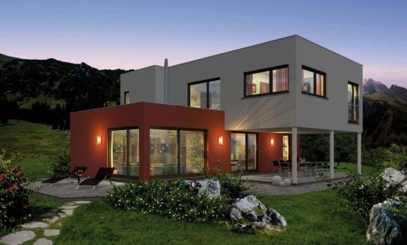 Fertigteilhaus modern  FERTIGTEILHAUS Genera und Solana // Haas Fertighaus