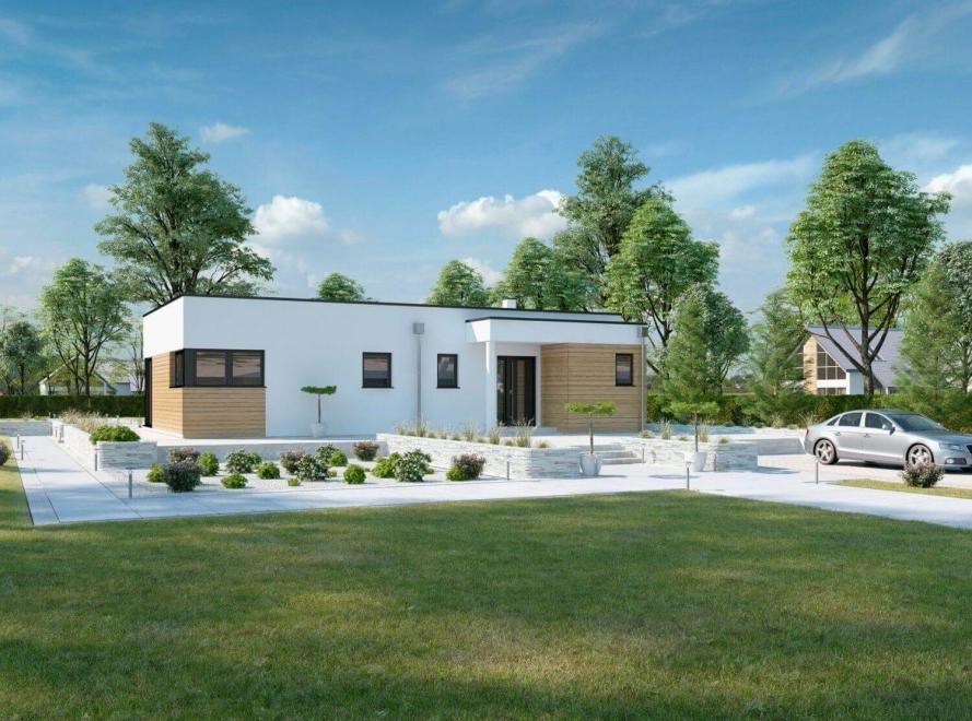 bungalow terra 110 haas fertighaus. Black Bedroom Furniture Sets. Home Design Ideas