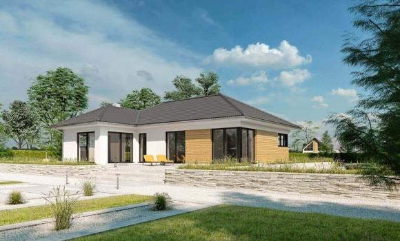 bungalow terra traum auf einer etage haas fertighaus. Black Bedroom Furniture Sets. Home Design Ideas