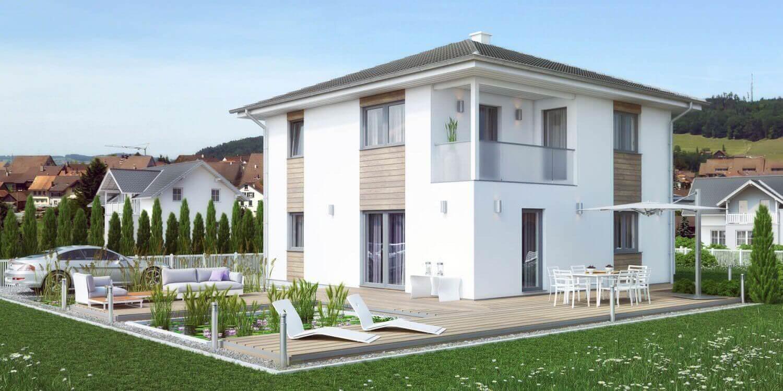 Stunning moderne h user walmdach gallery - Walmdach moderne architektur ...